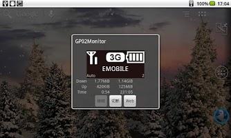 Screenshot of GP02Monitor