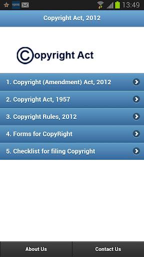 COPYRIGHT ACT 2012