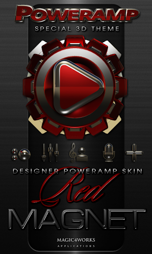Poweramp skin Red Magnet
