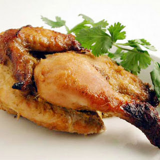 Honey and Coconut-Marinated Cornish Hens