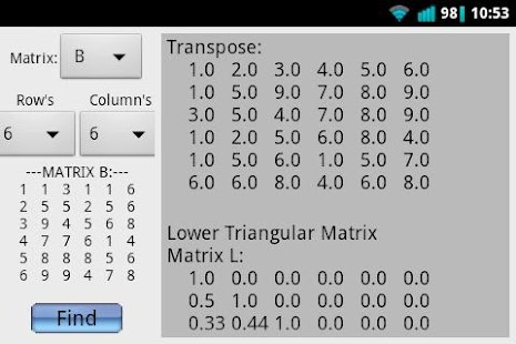 Matrix Calculator (Advanced) - screenshot thumbnail