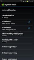 Screenshot of My Work Hours