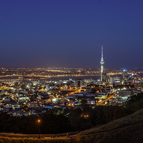 Auckland Night by Vincent Tan - City,  Street & Park  Night ( city lights, night, cityscape, city night, city )
