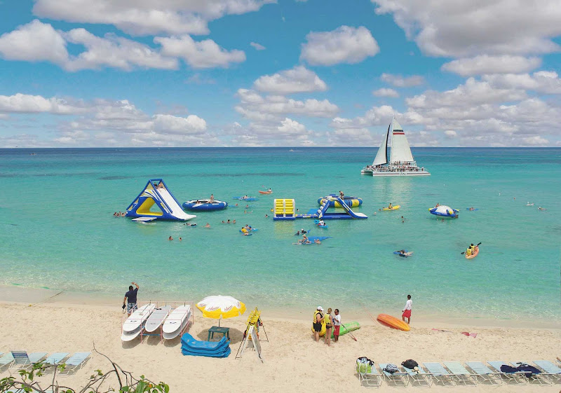 Playa Mia beach and water park offers a variety of activities for visitors to Cozumel.