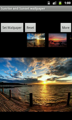 Sunrise and Sunset wallpaper