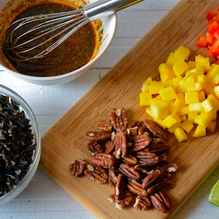 Wild Rice Salad with Mango and Pecans
