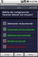 Screenshot of German Hunter's Exam Training