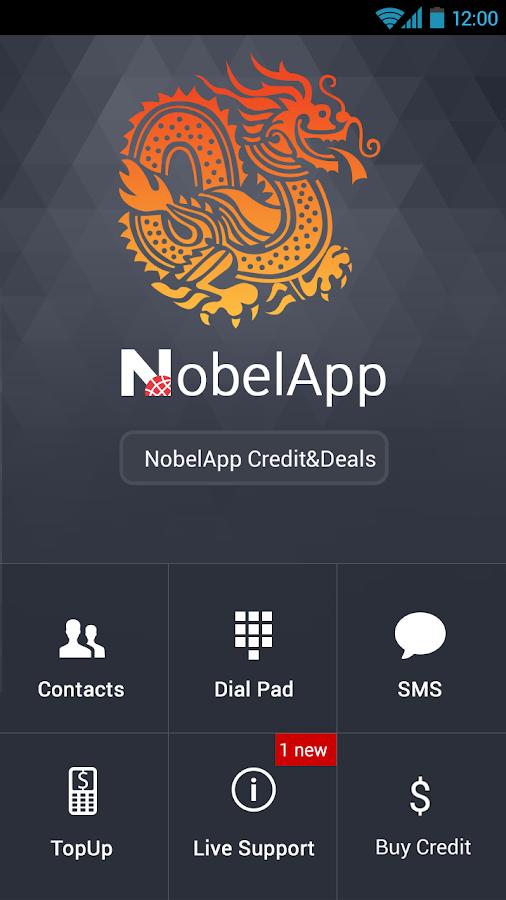 NobelApp International Calling - screenshot