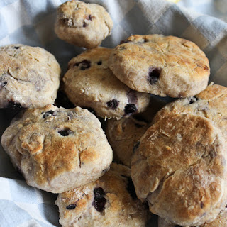 Whole Wheat Blueberry Biscuits