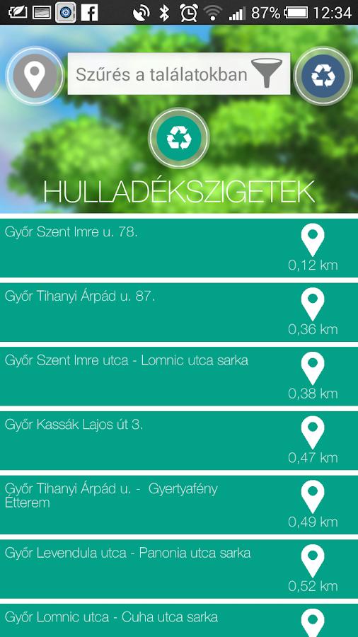 Szelektálj okosan Magyarország- screenshot