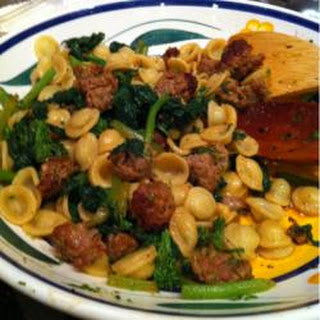 Orcchiette Pasta with Broccoli Rabe and Sausage
