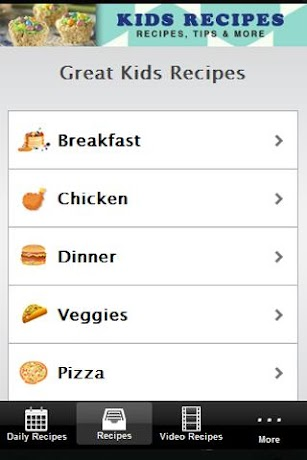 Kids Recipes! screenshot for Android
