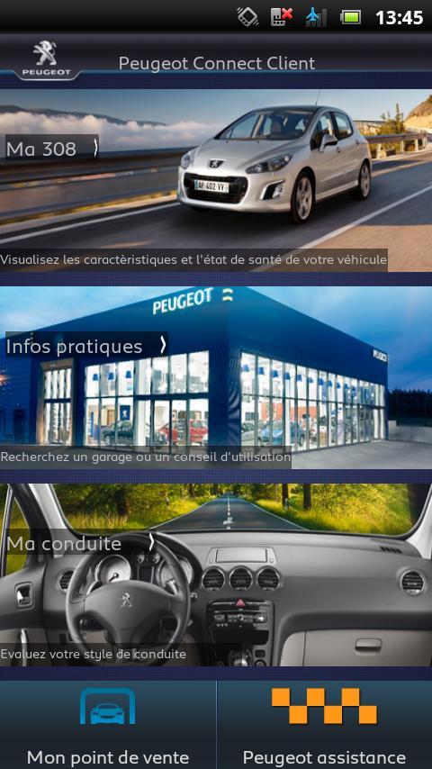Peugeot Connect Client - screenshot