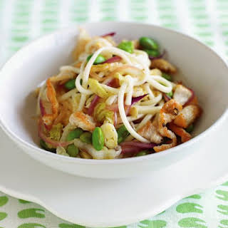 Chicken, Edamame, and Noodle Stir-Fry.