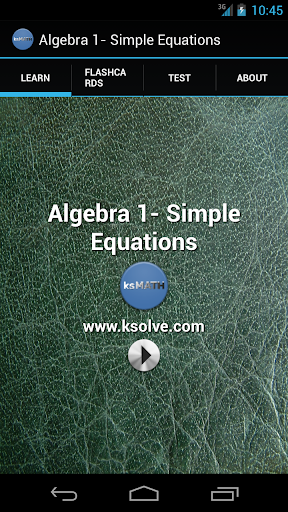 Algebra 1 - Simple Equations