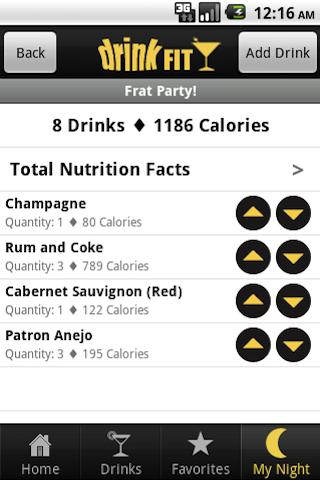 DrinkFit Calorie Tracker- screenshot