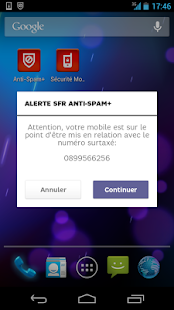 SFR Anti-spam+ (SMS et Appels)- screenshot thumbnail