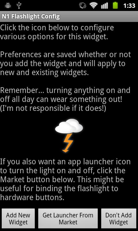 Nexus One LED Flashlight- screenshot