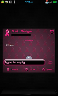 GO SMS PRO BREAST CANCER THEME - screenshot thumbnail