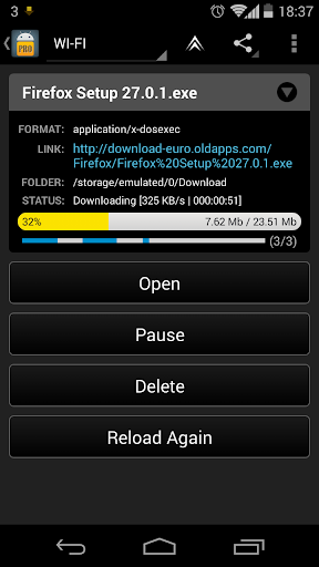 Loader Droid download manager  screenshots 4