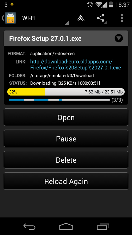 Loader Droid download manager - screenshot