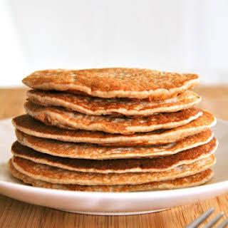 Banana Oat Greek Yogurt Pancakes.