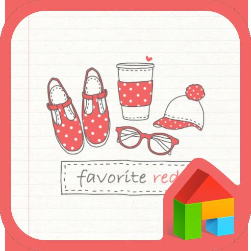 個人化必備App|favorite red dodol theme LOGO-綠色工廠好玩App