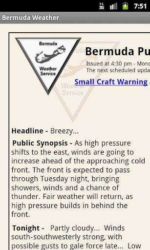 Bermuda Weather - Gingerbread
