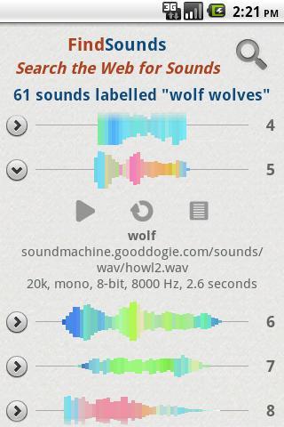 FindSounds- screenshot