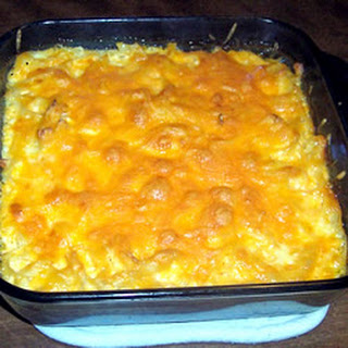 Three Cheese Noodle Bake.