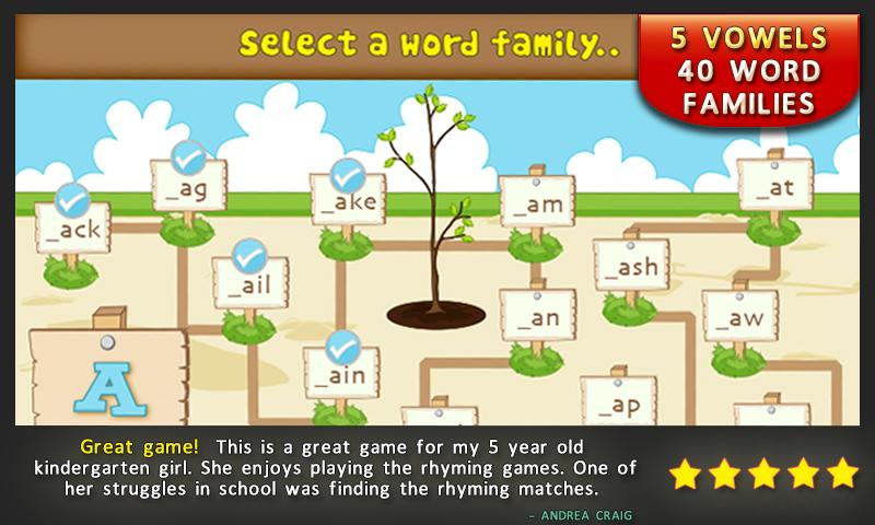 Preschool Rhymes Reading Games - screenshot