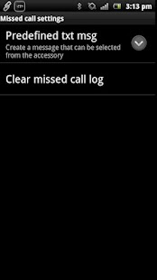 Missed Call smart extension - screenshot thumbnail