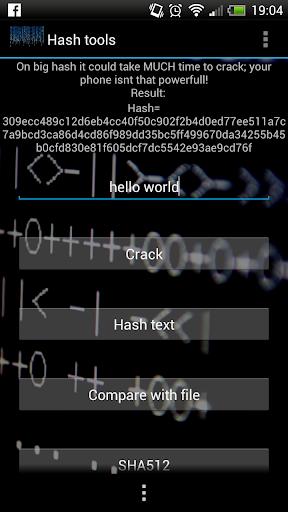 Hash tools
