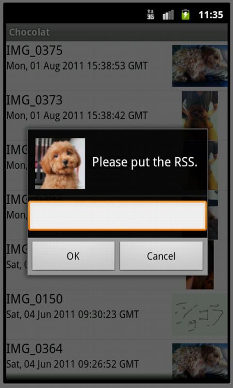 Chocolat for mobileme - screenshot