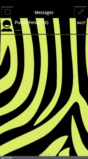 Black and Yellow Zebra Go SMS