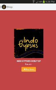 Indo Gypsies - Band App- screenshot thumbnail