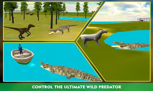 鳄鱼攻击的3D模拟器