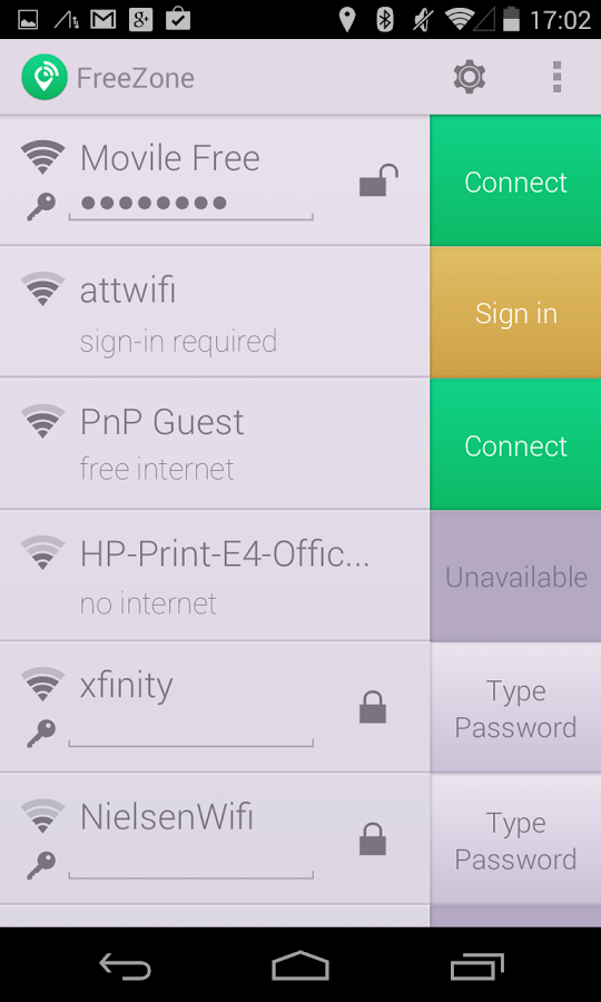Free Zone - Free WiFi Scanner - screenshot