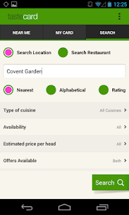 tastecard - discount dining - screenshot thumbnail