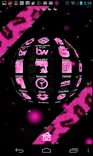Pink Glitter Theme 4 Launchers - screenshot thumbnail