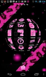 Pink Glitter Theme 4 Launchers - screenshot thumbnail