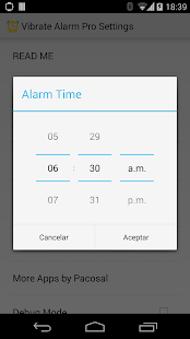Vibrate Alarm Pro Smartwatch 2 - screenshot thumbnail