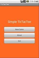Screenshot of Simple TicTacToe Game