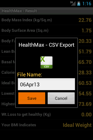 HealthMax - Health Calculator - screenshot