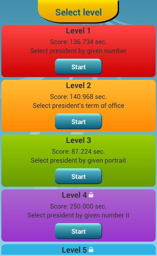 US Presidents Quiz - screenshot