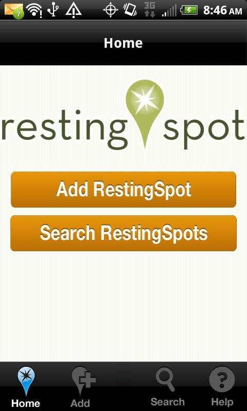 RestingSpot - screenshot