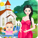 Mommy birth easter games icon