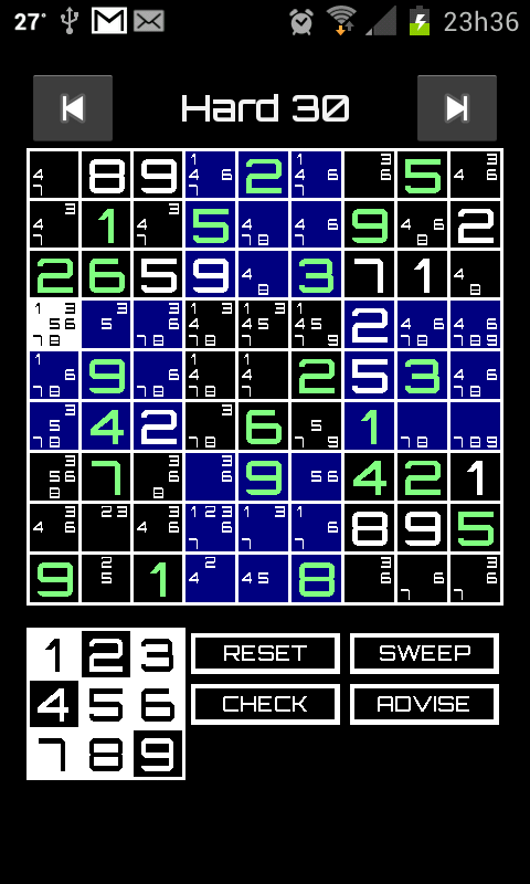 Sudoku Advisor- screenshot