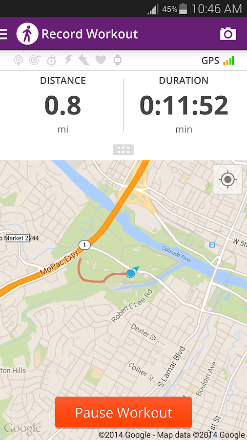Map My Walk+ GPS Pedometer- screenshot