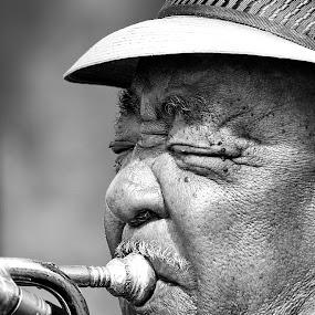 Street Jazz by Marthinus Strydom - People Musicians & Entertainers ( jazz, street, trumpet )